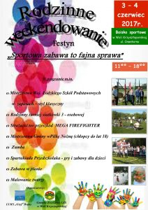Zaproszenie na Festyn Sportowy w Woli Krzysztoporskiej-3-4.06.2017